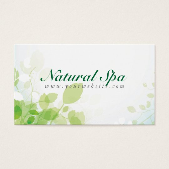Pastel green white nature design natural spa business card pastel green white nature design natural spa business card reheart Image collections