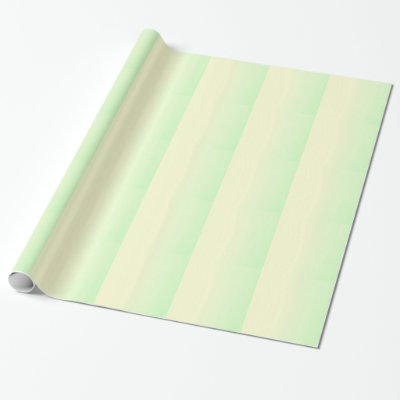 Pastel Green Yellow stripes Wrapping Paper