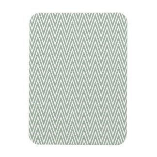 Pastel green zigzag pattern rectangular photo magnet