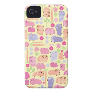 Pastel Guinea Pig Vegetable patch Case-Mate iPhone 4 Cases