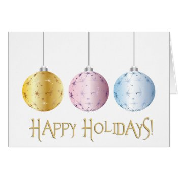 Pastel Happy Holidays Card
