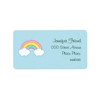 Pastel Happy Little Rainbow Label