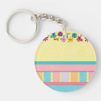 Pastel Haven Single-Sided Round Acrylic Keychain