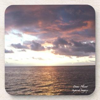 Pastel Hawaiian Sunset Cork Coaster