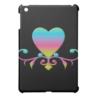Pastel Heart and flourish iPad Mini Cases