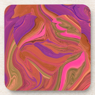 pastel heart art coaster