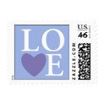 Pastel Heart Love Stamp Blue