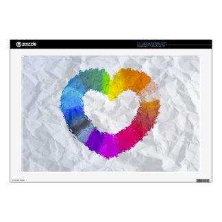 """Pastel Heart 17"""" Laptop Skin"""