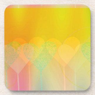 Pastel Hearts Beverage Coaster