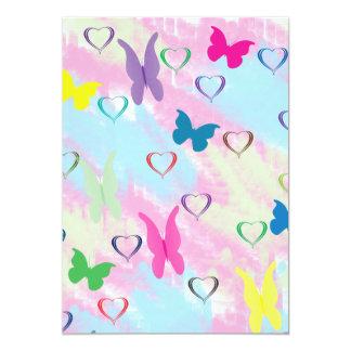 Pastel Hearts & Butterflies Card