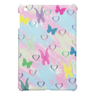 Pastel Hearts & Butterflies Case For The iPad Mini
