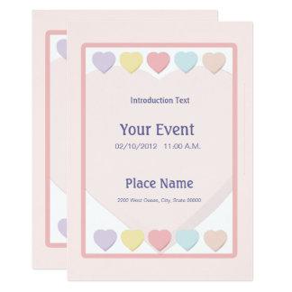Pastel Hearts Invitation