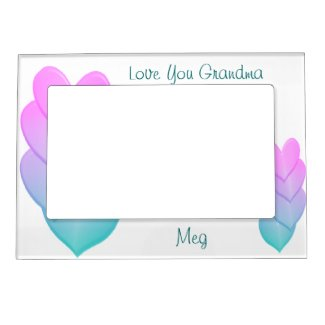 Pastel Hearts Magnetic Frame- personalize