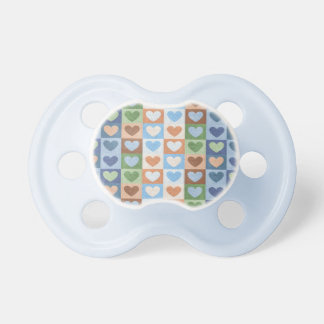 Pastel Hearts Pattern in Multi Colors. Pacifier