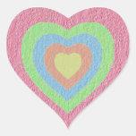 Pastel Hearts photo template Heart Sticker