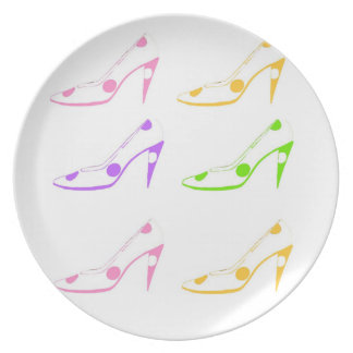 Pastel High Heel Shoes Dishes Plate