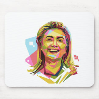 pastel Hillary Clinton Mouse Pad