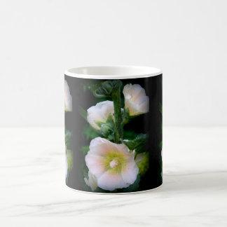 Pastel Hollyhocks Coffee Mug