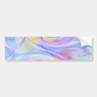 pastel hologram bumper sticker