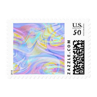 pastel hologram postage postal stamps