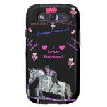 Pastel Horse Jumping Samsung Galaxy S3 Case