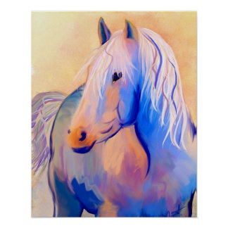 Pastel Horse Poster