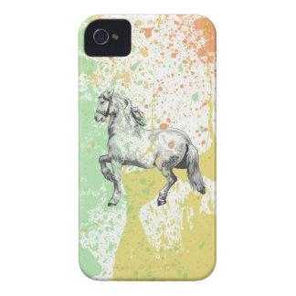 Pastel horse sketch paint splatter design horses iPhone 4 cover