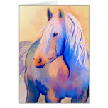 Pastel Horse Stationery Note Card