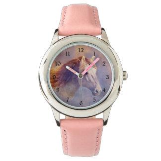 Pastel horse wristwatch