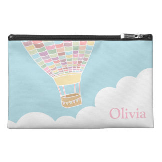 Pastel Hot Air Balloon Girls Travel Accessory Bag