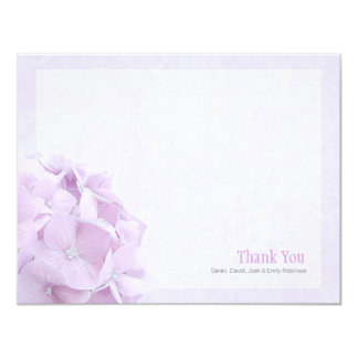Pastel Hydrangea Flat Thank You Note Card