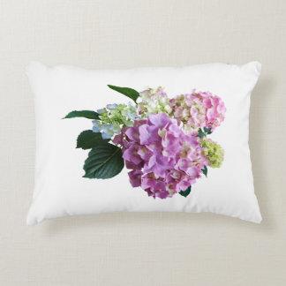 Pastel Hydrangea Accent Pillow