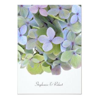 Pastel Hydrangea Wedding Invitations, Gray Text 5x7 Paper Invitation Card