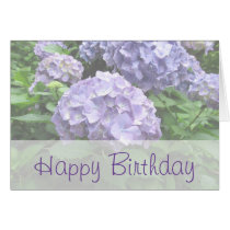 Pastel Hydrangeas at Trebah Birthday Card