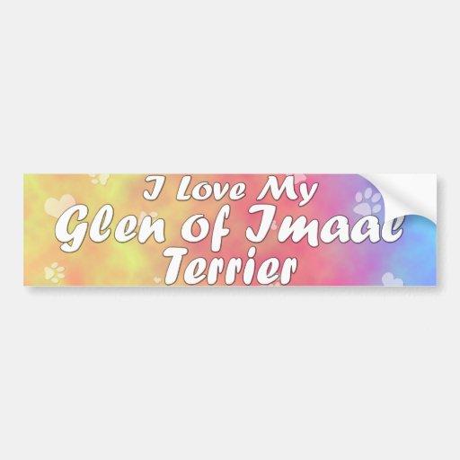 Pastel I Love my Glen of Imaal Terrier Bumper Sticker