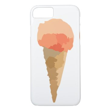 Beach Themed Pastel ice-cream Summer sorbet iPhone 7 Case