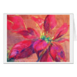 """pastel image titled """"Christmas Poinsettia"""" Cards"""