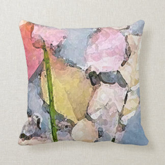 Pastel Impressions Throw Pillow