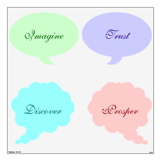 Pastel Inspirational Thought Bubbles Wall Decals