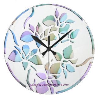 Pastel Irises Clock