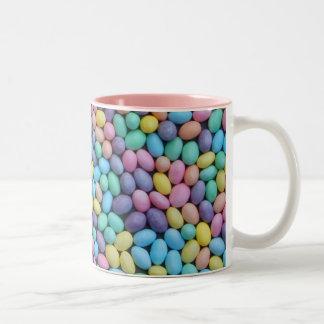 Pastel Jelly Beans Two-Tone Coffee Mug