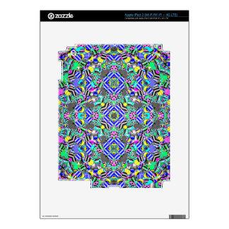 Pastel Kaleidescope Decal For iPad 3