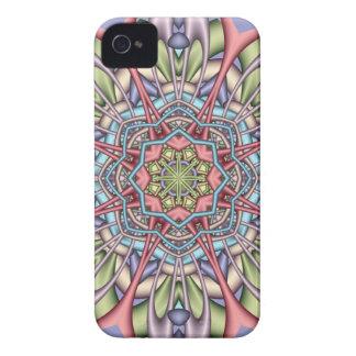 Pastel kaleidoscope iPhone 4 case
