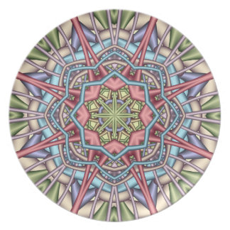 Pastel kaleidoscope Plate