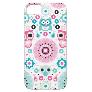Pastel kids owls sweet colorful blossom pattern iPhone 5 cases