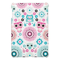 Pastel kids owls sweet colorful blossom pattern case for the iPad mini