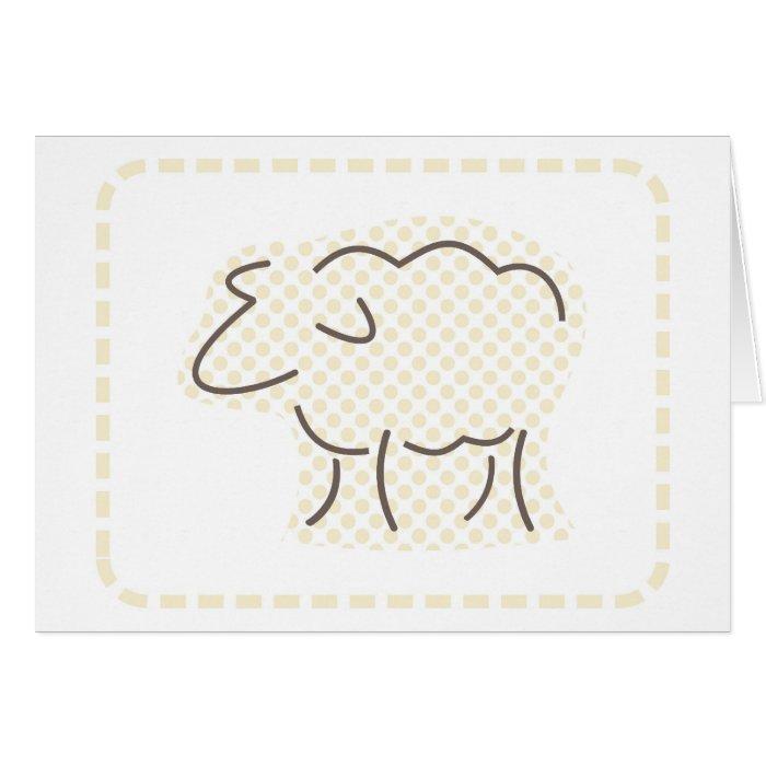Pastel Lamb Card