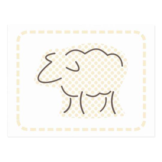 Pastel Lamb Postcard