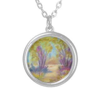 Pastel Landscape Necklace