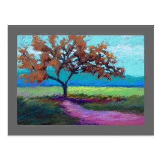 pastel landscape postcard